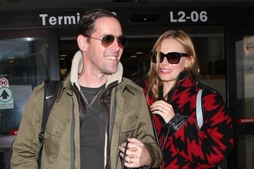 Michael Polish Kate Bosworth & Michael Polish Arriving On A Flight At LAX