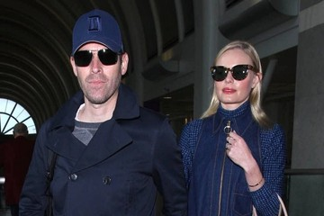 Michael Polish Kate Bosworth and Michael Polish Arrive on a Flight at LAX