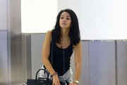 Michelle Keegan Arriving On A Flight In Miami