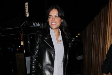Michelle Rodriguez Celebrities Out For Dinner At The Nice Guy Restaurant
