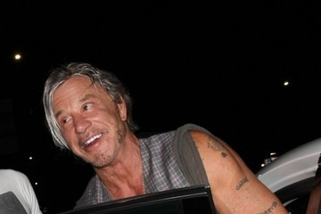 Mickey Rourke Celebrities Enjoy a Night Out at Nice Guy