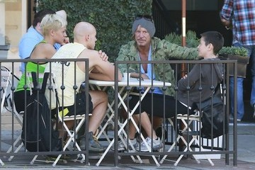 Mickey Rourke Mickey Rourke Lunches with Friends