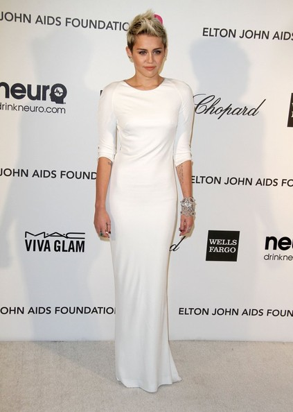 Miley Cyrus - The 2O13 Elton John AIDS Foundation Academy Awards Viewing Party in LA