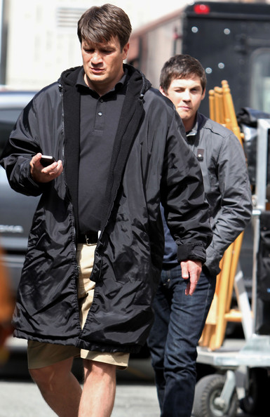 Nathan Fillion - Stars On The Set Of 'Percy Jackson: Sea Of Monsters'
