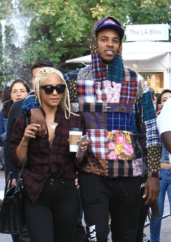 Nick Young And Paloma Ford Shop At The Grove