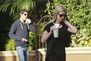 Socialites and friends Nicky Hilton and Brandon Davis spending the day together in Beverly Hills, California on October 18, 2012. The pair stopped at a gas station where Brandon pumped gas and gave 20 dollars to a homeless man. Then they stopped at Beverly Hills Juice for a couple of juices. And finally ended up at the Four Seasons Hotel.