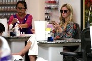 Nicky Hilton Getting Her Nails Done in Beverly Hills