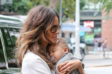 Nicole Trunfio Nicole Trunfio and Son Zion Return to Their Hotel in NYC