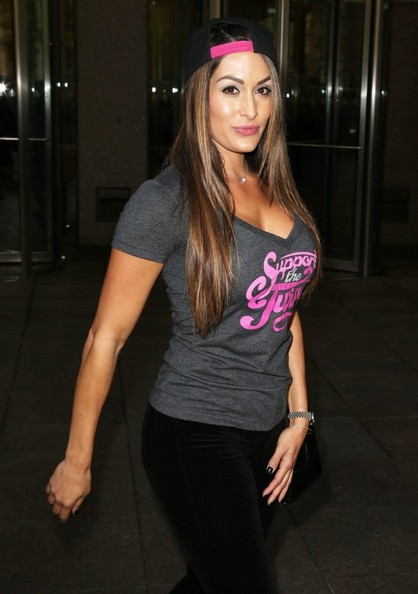 Nikki bella photos photos celebs get sirius in nyc zimbio Nikki bella fashion style