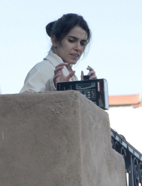 Nikki Reed - Nikki Reed Hanging Out On Her Balcony