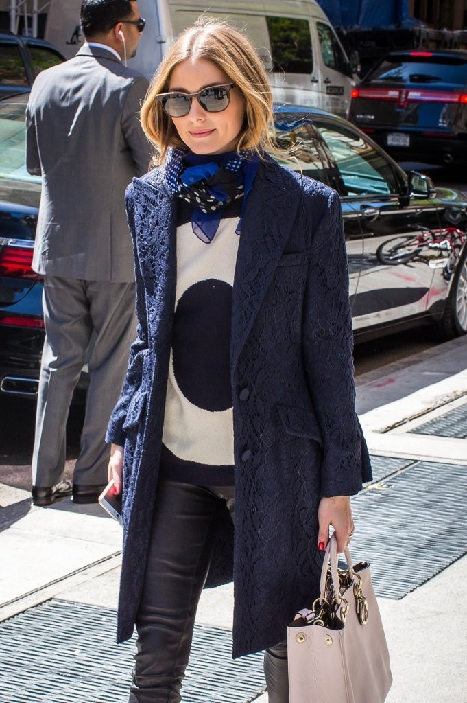 Olivia Palermo Outside The Mark Hotel