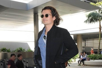 Orlando Bloom Orlando Bloom Touches Down at LAX
