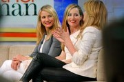 "Actresses Cameron Diaz, Kate Upton and Leslie Mann visit ABC Studios to promote their new movie ""The Other Woman"" on 'Good Morning America' on April 23, 2014 in New York City, New York."