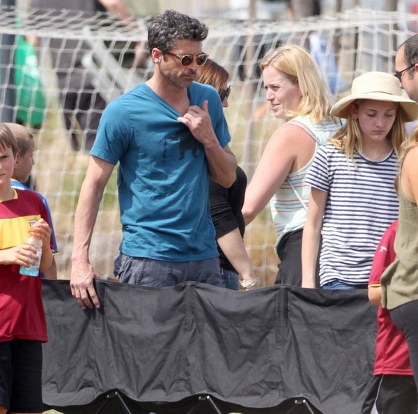 Patrick Dempsey Photos Photos Patrick Dempsey Watches His Son Play