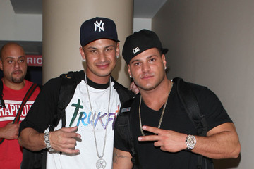 Paul DelVecchio  Ronnie Ortiz-Magro Ronnie And Pauly D Departing On A Flight At LAX