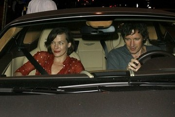 Paul W.S. Anderson Milla Jovovich and Paul Dine Out At BOA Steakhouse
