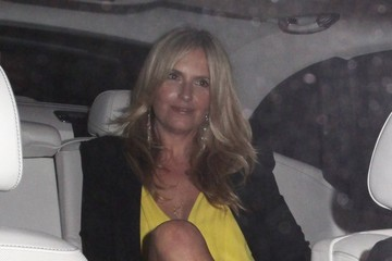 Penny Lancaster Celebrities Out For Dinner at Craig's