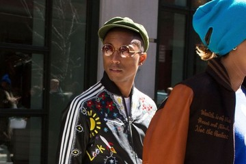 Pharrell Williams Pharrell Williams and Helen Lasichanh Step Out in New York