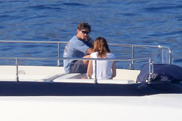 Silvia Toffanin Pier Silvio Berlusconi and Family on Their Yacht in France