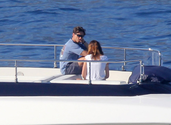 Pier Silvio Berlusconi and Family on Their Yacht in France