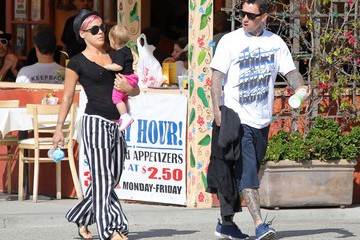 Carey Hart Pink And Family Out For Breakfast In Malibu