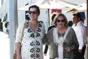 Milla Jovovich Lunches with Her Mom