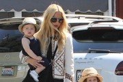 Rachel Zoe And Family Out For Lunch In Brentwood