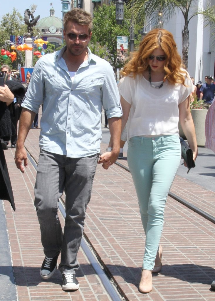 Actress Rachelle Lefevre with her ex-boyfriend Jamie Thomas King