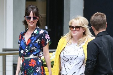 Rebel Wilson Stars on the Set of 'How to Be Single'