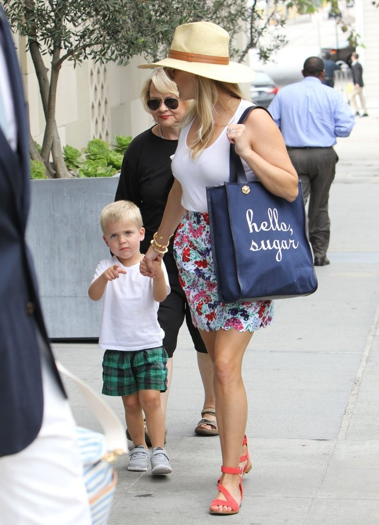 reese witherspoon out with her son zimbio