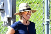 Reese Witherspoon Takes Her Son to Baseball Practice