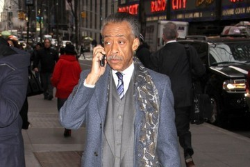 Reverend Al Sharpton Celebrities Outside NBC Studios In New York