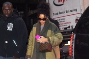 Rihanna Heads To Her NYC Hotel