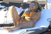 Rita Rusic Relaxing On The Beach In Miami