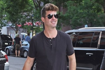 Robin Thicke Robin Thicke and April Love Geary Out in New York