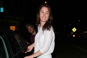'The Mentalist' actress Robin Tunney enjoys a night out on the town on April 30, 2014 in Los Angeles, California.