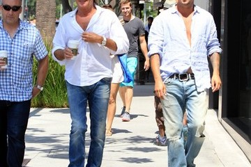 Rod Stewart Rod and Sean Stewart Out For a Stroll in Beverly Hills