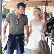 Romain Zago Joanna Krupa Enjoys Lunch