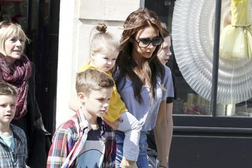 Romeo Beckham Baby Harper Steals the Show on Family Outing in Paris