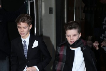 Romeo Beckham Victoria Beckham Heads to a Fashion Show in NYC