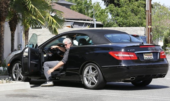 Ron Perlman Heads to a Meeting