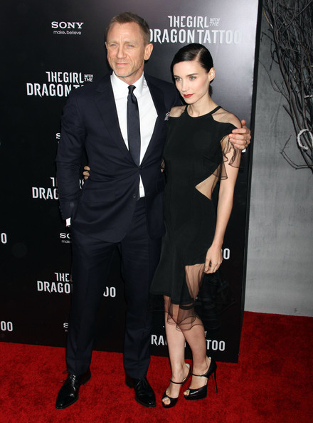 Rooney mara the girl with the dragon tattoo new york premiere