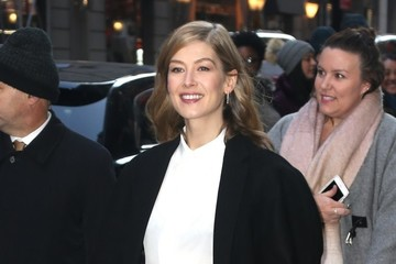 Rosamund Pike Celebrites On 'Good Morning America' In NYC