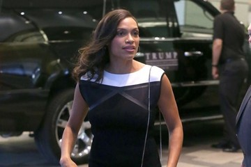 Rosario Dawson Celebs Spotted Out And About In Toronto