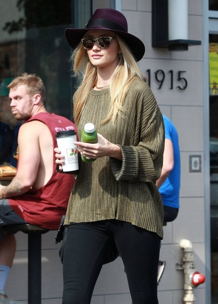'Mad Max: Fury Road' actress Rosie Huntington-Whiteley and a friend stopping by The Oaks for a coffee and a juice in Hollywood, California on February 8, 2014.