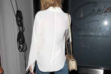 Rosie Huntington-Whiteley Celebrities Dine out at Craig's Restaurant in Hollywood