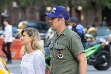 Ryan Hawke Ethan Hawke & Wife Ryan Out For A Stroll In NYC