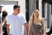 Ryan Lochte And Kayla Reid Grab Lunch In West Hollywod
