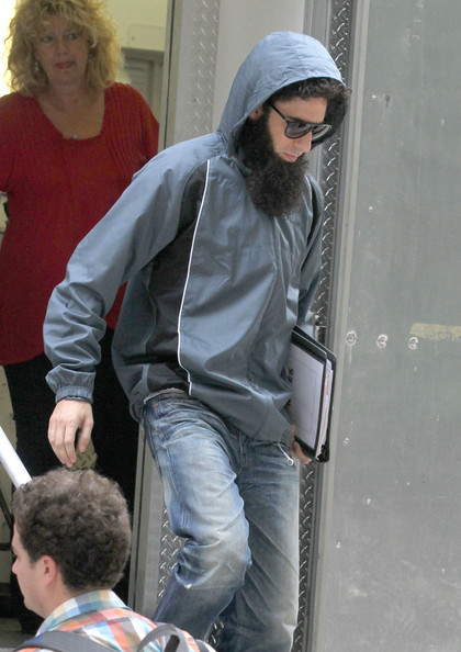 Sacha Baron Cohen Celebrities are spotted on the set of 'The Dictator' in New York City.