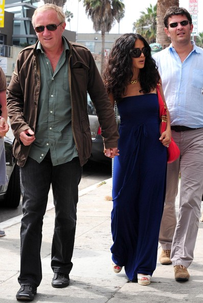 salma hayek husband and daughter. Salma Hayek her husband